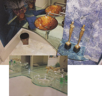 Strange Custom Glass Table Tops Custom Glass Counters Interior Design Ideas Inesswwsoteloinfo