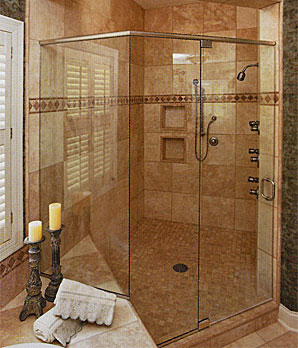 Custom Frameless Glass Shower Doors Made League City Style